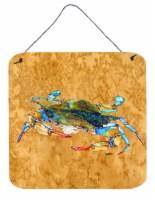 Carolines Treasures  8655DS66 Crab Aluminium Metal Wall or Door Hanging Prints