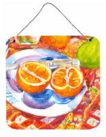 Florida Oranges Sliced for breakfast  Wall or Door Hanging Prints - 6HX6W