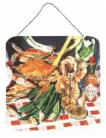 Carolines Treasures  8537DS66 Crab Boil Aluminium Metal Wall or Door Hanging Pri - 6HX6W