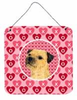 Border Terrier Valentine's Love and Hearts Wall or Door Hanging Prints
