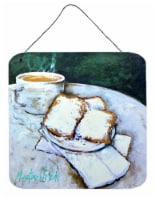 Food Beignet Time Aluminium Metal Wall or Door Hanging Prints - 6HX6W