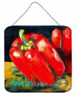 Vegetables - Bell Pepper Two Bells Aluminium Metal Wall or Door Hanging Prints