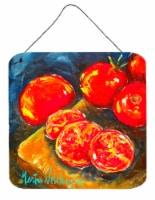 Vegetables - Tomato Slice It Up Aluminium Metal Wall or Door Hanging Prints - 6HX6W