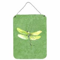 Dragonfly on Avacado Aluminium Metal Wall or Door Hanging Prints - 16HX12W