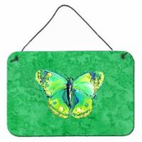 Butterfly Green on Green Aluminium Metal Wall or Door Hanging Prints