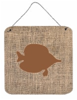 Fish - Tang Fish Burlap and Brown Wall or Door Hanging Prints BB1023