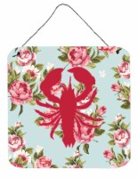 Lobster Shabby Chic Blue Roses Wall or Door Hanging Prints BB1015 - 6HX6W