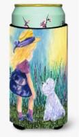 Little Girl with Westie  Tall Boy Beverage Insulator Beverage Insulator Hugger - Tall Boy