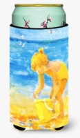 Little Girl at the beach  Tall Boy Beverage Insulator Beverage Insulator Hugger - Tall Boy