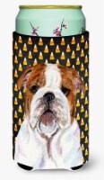 Bulldog English Candy Corn Halloween Portrait  Tall Boy Beverage Insulator Bever - Tall Boy