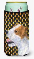 Jack Russell Terrier Candy Corn Halloween Portrait  Tall Boy Beverage Insulator - Tall Boy