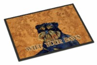 Brussels Griffon Wipe your Paws Indoor or Outdoor Mat 18x27