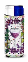 Carolines Treasures  8616MUK Red Wine Ultra Beverage Insulators for slim cans - Slim Can