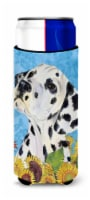 Dalmatian in Summer Flowers Ultra Beverage Insulators for slim cans - Slim Can
