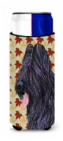 Briard Fall Leaves Portrait Ultra Beverage Insulators for slim cans - Slim Can