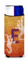 Halloween Ghosts Monogram Initial  Letter E Ultra Beverage Insulators for slim c - Slim Can