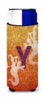 Halloween Ghosts Monogram Initial  Letter Y Ultra Beverage Insulators for slim c - Slim Can
