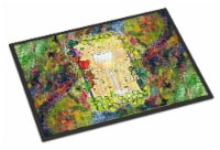 White Wine Glass and grapes Indoor or Outdoor Mat 18x27 - 18Hx27W