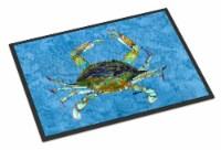 Carolines Treasures  8656MAT Blue Crab Indoor or Outdoor Mat 18x27