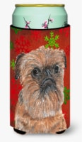Brussels Griffon Red Snowflake Christmas Tall Boy Beverage Insulator Beverage In - Tall Boy
