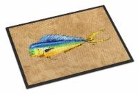 Carolines Treasures  8810MAT Dolphin Mahi Mahi Indoor or Outdoor Mat 18x27 - 18Hx27W