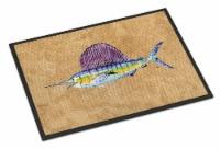 Carolines Treasures  8813MAT Swordfish Indoor or Outdoor Mat 18x27 - 18Hx27W