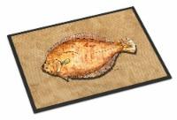 Carolines Treasures  8821MAT Flounder Indoor or Outdoor Mat 18x27