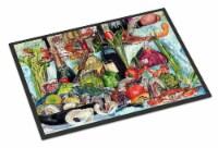Carolines Treasures  8915MAT Wine Crab Shrimp and Oysters Indoor or Outdoor Mat
