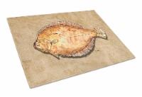 Carolines Treasures  8821LCB Flounder Glass Cutting Board Large