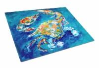 Carolines Treasures  MW1153LCB By Chance Crab Glass Cutting Board Large