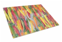 Carolines Treasures  8893LCB Hot Peppers Glass Cutting Board Large