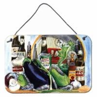 Eggplant and New Orleans Beers  Aluminium Metal Wall or Door Hanging Prints - 8HX12W