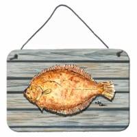 Carolines Treasures  8495DS812 Fish Flounder Aluminium Metal Wall or Door Hangin