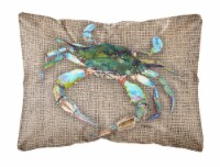 Carolines Treasures  8731PW1216 Crab   Canvas Fabric Decorative Pillow