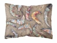Carolines Treasures  8738PW1216 Shrimp   Canvas Fabric Decorative Pillow
