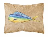 Carolines Treasures  8810PW1216 Dolphin Mahi Mahi   Canvas Fabric Decorative Pil - 12Hx16W