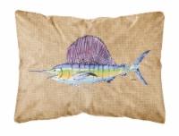 Carolines Treasures  8813PW1216 Swordfish   Canvas Fabric Decorative Pillow - 12Hx16W