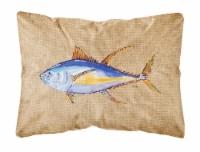 Carolines Treasures  8817PW1216 Tuna Fish   Canvas Fabric Decorative Pillow
