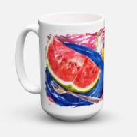 Watermelon Dishwasher Safe Microwavable Ceramic Coffee Mug 15 ounce - 15 ounce