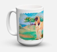 Afghan Hound Dishwasher Safe Microwavable Ceramic Coffee Mug 15 ounce
