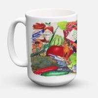 Louisana Spices Dishwasher Safe Microwavable Ceramic Coffee Mug 15 ounce - 15 ounce