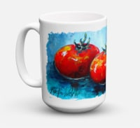 Vegetables - Tomatoes Red Toes Dishwasher Safe Microwavable Ceramic Coffee Mug 1 - 15 ounce