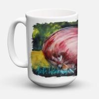 Vegetables - Onion One-Yun Dishwasher Safe Microwavable Ceramic Coffee Mug 15 ou - 15 ounce