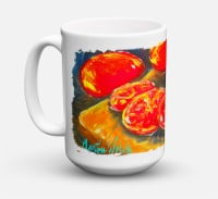 Vegetables - Tomatoes Slice It Up Dishwasher Safe Microwavable Ceramic Coffee Mu - 15 ounce