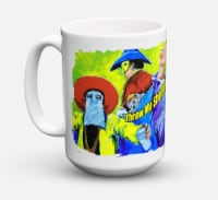 Mardi Gras Throw me something mister Dishwasher Safe Microwavable Ceramic Coffee - 15 ounce