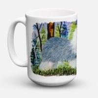 Old English Sheepdog Dishwasher Safe Microwavable Ceramic Coffee Mug 15 ounce - 15 ounce