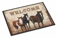 Welcome Mat with Horses Indoor or Outdoor Mat 18x27 - 18Hx27W