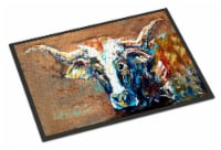On the Loose Brown Cow Indoor or Outdoor Mat 18x27 - 18Hx27W