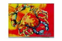 Carolines Treasures  MW1086PLMT Crab Hot Dang Fabric Placemat - Large