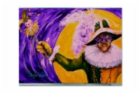 Carolines Treasures  MW1109PLMT Mardi Gras Hey Mister Fabric Placemat - Large